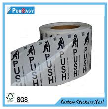 Custom see through pull&push door label sticker