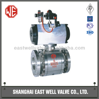 API standard stainless steel metal sealing floating ball valve