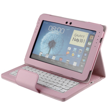 With Detachable Wireless Bluetooth Keyboard For Samsung GALAXY Note 10.1 N8000 tablet protective case