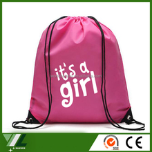 Cheap waterproof 190t polyester drawstring bag