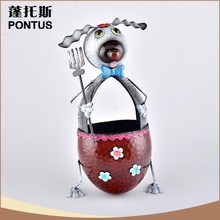 Desktop art fashion wrought iron custom made trash cans