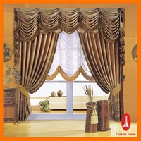 Curtain Times electric fancy curtain with embroidery for wholesale and retail