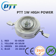 1w high power led, red, yellow, green, blue, 1w, 3 years guarantee, 50000 hours lifespan