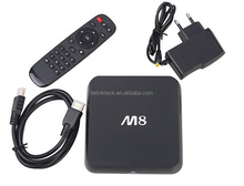 Factory directly selling android 4.4 tv box Amlogic S802 2G/8G Quad core Kodi google internet android tv box M8