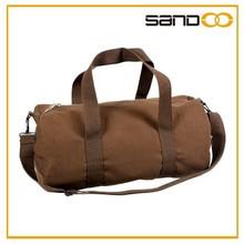 Simple cheap canvas travel shoulder bag for men, sports bag gym sack