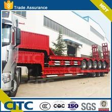 CITC tri-axle heavy duty truck transport /3 axles step-wise side wall open/column board lowbed semi trailer