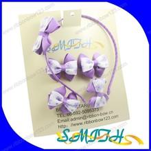 MSD Hair accessories sets ,grosgrain ribbon bow for little girls