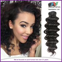 100% virgin remy Brazilian deep wave hair,hot sale tangle and shed free
