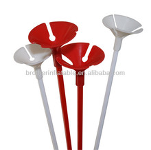 Eco-friendly white plastic balloon stick and cup for party