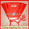 variety of promotional kites for Cocacola logo kite
