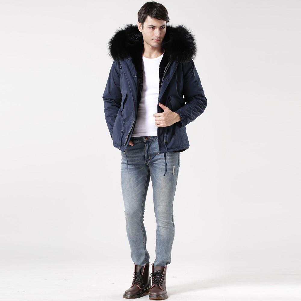 Black Fuax Fur Lined Royal Blue Man Short Coat Buy Coats With Hood Brief Introduce