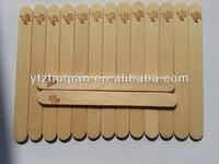Round birch edge wooden ice cream sticks/spoon bamboo craft