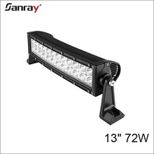 13 inch 72W waterproof IP67 curved led fog light bar for offroad/suv/atv/jeep/motorcycle/automotive