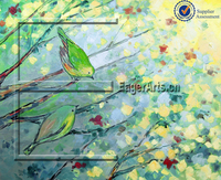 Wholesale Handpainted Abstract Leaf Oil Painting Designs