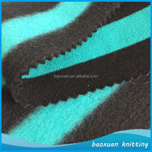 100 polyester yarn dye stripe one side brushed fleece fabric hodies fleece fabric