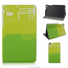 Yellow-green spliced Prints PU Leather Flip Stand Covers&Cases For Asus Fonepad 7 FE171MG From China Shenzhen Factory