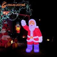 H:55cm W:46cm Christmas decorative led outdoor standing santa claus
