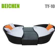 beichen Rattan Chaise Lounge and Side Table Outdoor Furniture