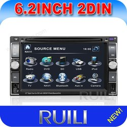 6.2 inch indash car dvd with gps