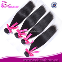 Cheap full head long human hair ponytail weaves brazilian body wave 16 inch hair weft