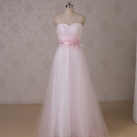 LF1561 New arrivals Lovely Floor Length Sash Sweetheart Pink Long Girls Birthday Party Formal Evening Dress