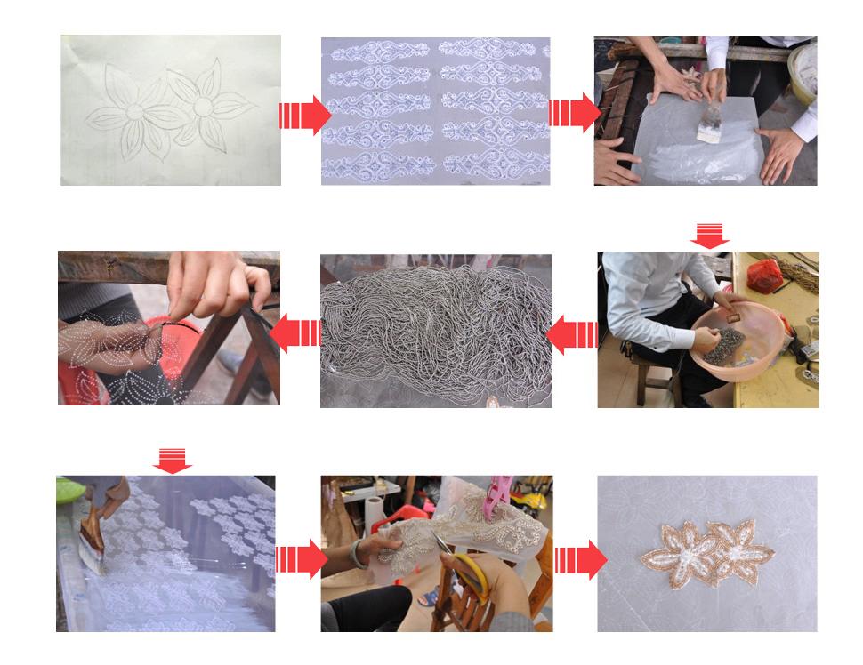 China fashion wholesale rhinestone crystal applique for wedding dresses