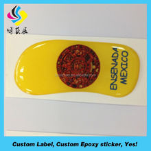 vinyl business Printed and resin domed name badges,hot epoxy sticker(strong stick)