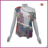 100 viscose ladies t shirts manufacturers in china,beads embroidery on neck