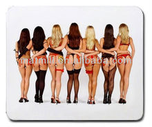 Most Sexy Girls Clear White Backgound Top Sale Mouse Pad Factory