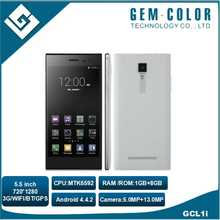 MT6592 5.5 inch IPS Screen 720x 1280 Pixels Smart Phone, WIFI. GPS. FM. Bluetooth Dual SIM Octa Core 3G Mobile Phone