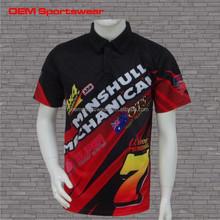 Sublimation Printing Motor Sport Racing Team Pit Crew Shirts