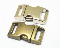 High quality metal breakaway buckle,double side release buckle,Curved metal Buckle for Pet Collar