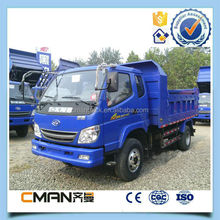 China favorable price T King brand 6 wheeler 2t mini tipper for sale