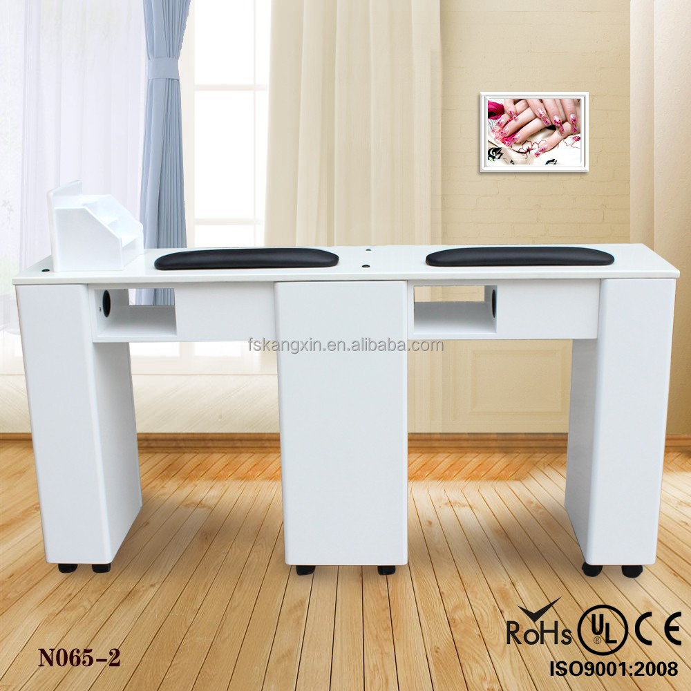 Professional nail salon equipment for sale double white for Nail salon table