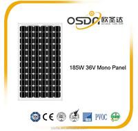 185W mono solar Panel with TUV CE for Grenada