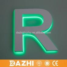 Letra de aluminio con retroiluminación led de alta calidad 2015, decoración magnética, letra de acero inoxidable para letrero led