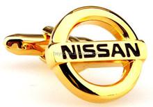 HEYCO brass gold nissan auto car logo avatar cufflinks