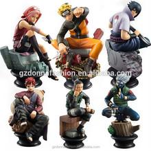 Mano a hacer juguetes modelo de animación al por mayor 6 piezas Naruto Naruto Ajedrez Tienda cuadro de agentes de huevo