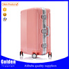 China new products ABS luggage bag fashion high quality pink travel trolley luggage durable quality