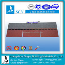 Colorful 3-Tab Asphalt Roofing Materials For Roofing Shingles
