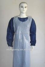Blue Disposable Women's PVC Apron