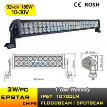 32 inch 180W cheap led light bars, 12V flood spot off road led light bar, offroad led light bar for ATV 4x4 truck