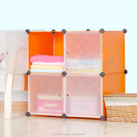DIY Storage box 4 cubes with white color door for clothes