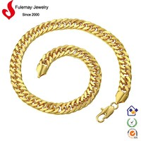 Gold chunky bubblegum necklace without stones,fashion accessories