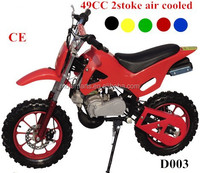 double pipe cheap dirt bike 49cc 2-stroke gas power with CE certificate
