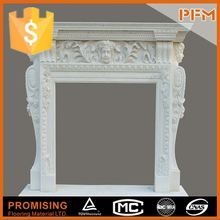 latest natural best price beautiful hand carved stone for fire place imitation fireplace