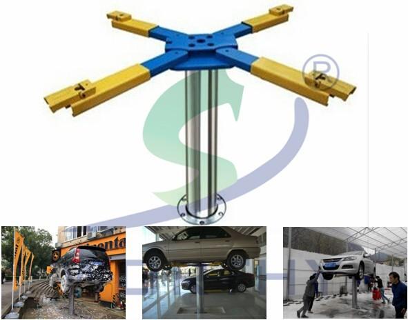 Single Hydraulic Automotive Lifts : W single post hydraulic garage car lift buy