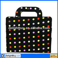 Black dot Portable PU Cover Hand Bag Case Protector for iPad 2 iPad 3