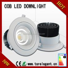 high lumen 6 inch 30w 40w 50w led downlight 3 years warranty