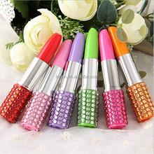 blingbling crystal element lipstick shape pen TC-0012